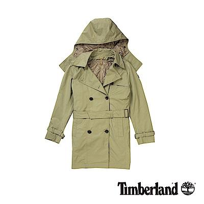 Timberland 女款英倫卡其色三合一經典防水風衣外套|B2110