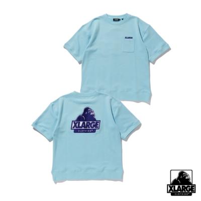 XLARGE S/S SLANTED OG POCKET SWEAT 口袋短袖衛衣-藍