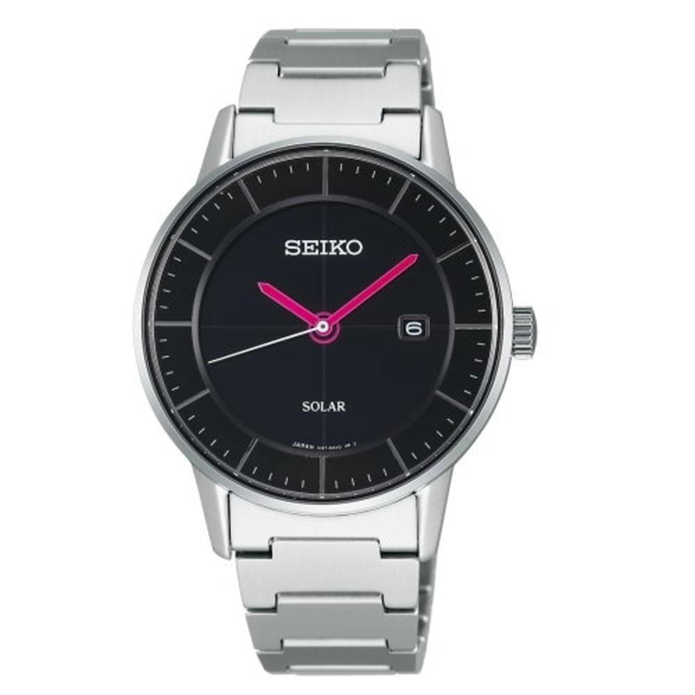 SEIKO 日系極簡美學太陽能時尚腕錶/V147-0AK0D