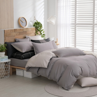 OLIVIA BASIC系列 雙人床包兩用被套四件組 300織精梳長絨棉 台灣製