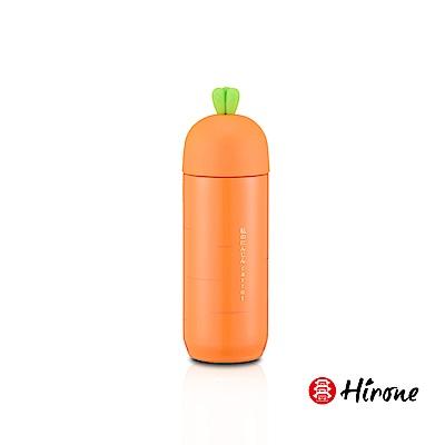 日本HIRONE日本博音Q萌造型保溫杯-橘色蘿蔔