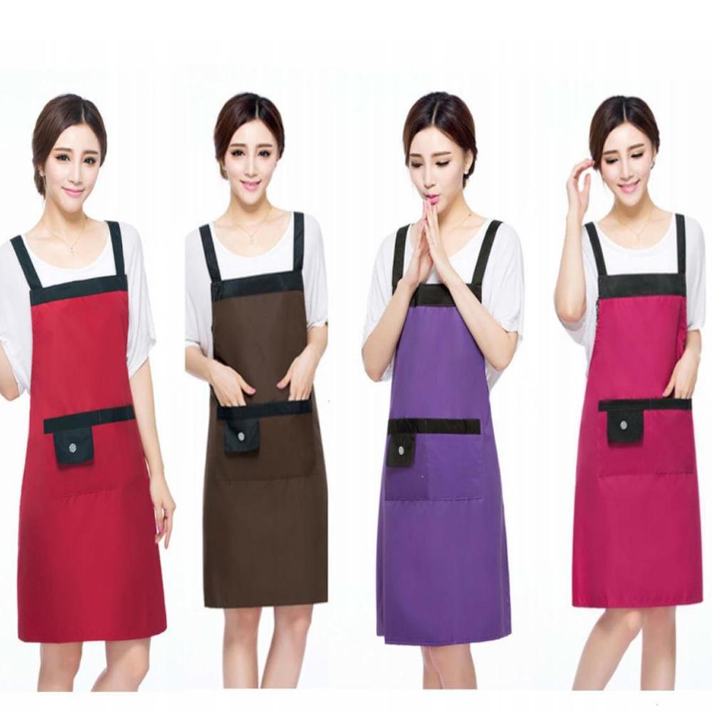 BD004圍裙素色防水圍裙布藝圍裙吊帶式圍裙無袖套韓版無袖肩帶