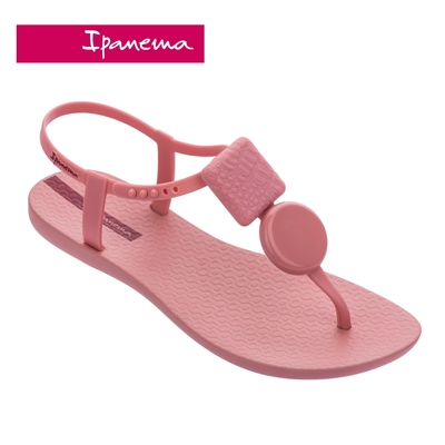 Ipanema CLASS ELEGANT經典幾何裝飾T字涼鞋-粉