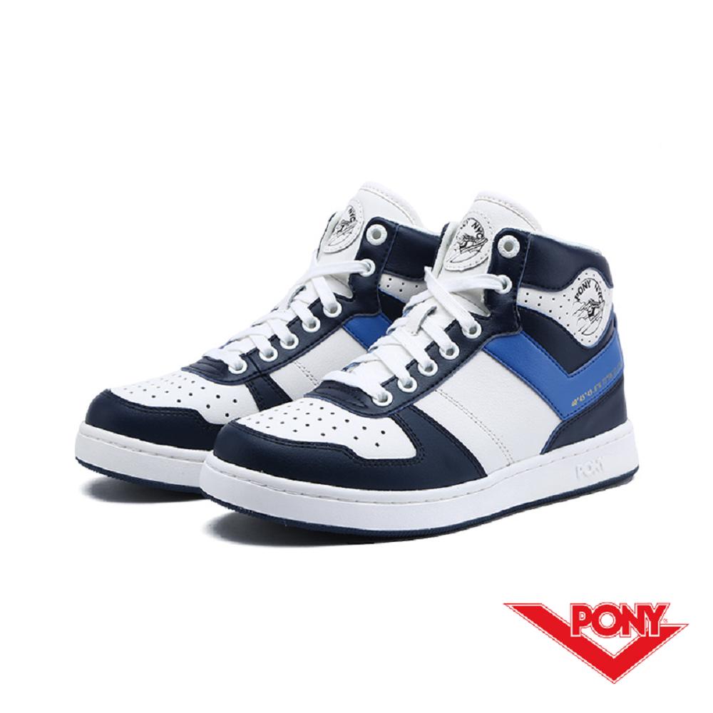 【PONY】City Wings 系列-復古籃球鞋款-女-藍