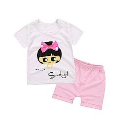 baby童衣 兒童套裝純棉短袖短褲兩件套家居服 88109