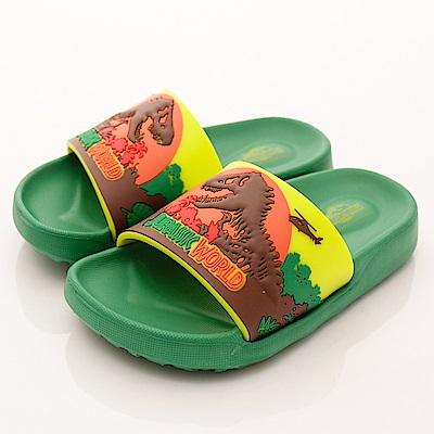侏羅紀公園童鞋 恐龍超輕拖鞋款 SE4796綠(中小童段)