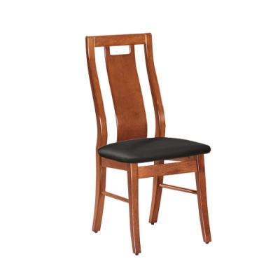 Boden-亞恒實木皮面餐椅/單椅(四入組合)-34x42x95cm