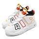 Nike 休閒鞋 Air More Uptempo 童鞋 經典款 大AIR 復刻 氣墊 避震 小童 白 黃 DD9287100 product thumbnail 1