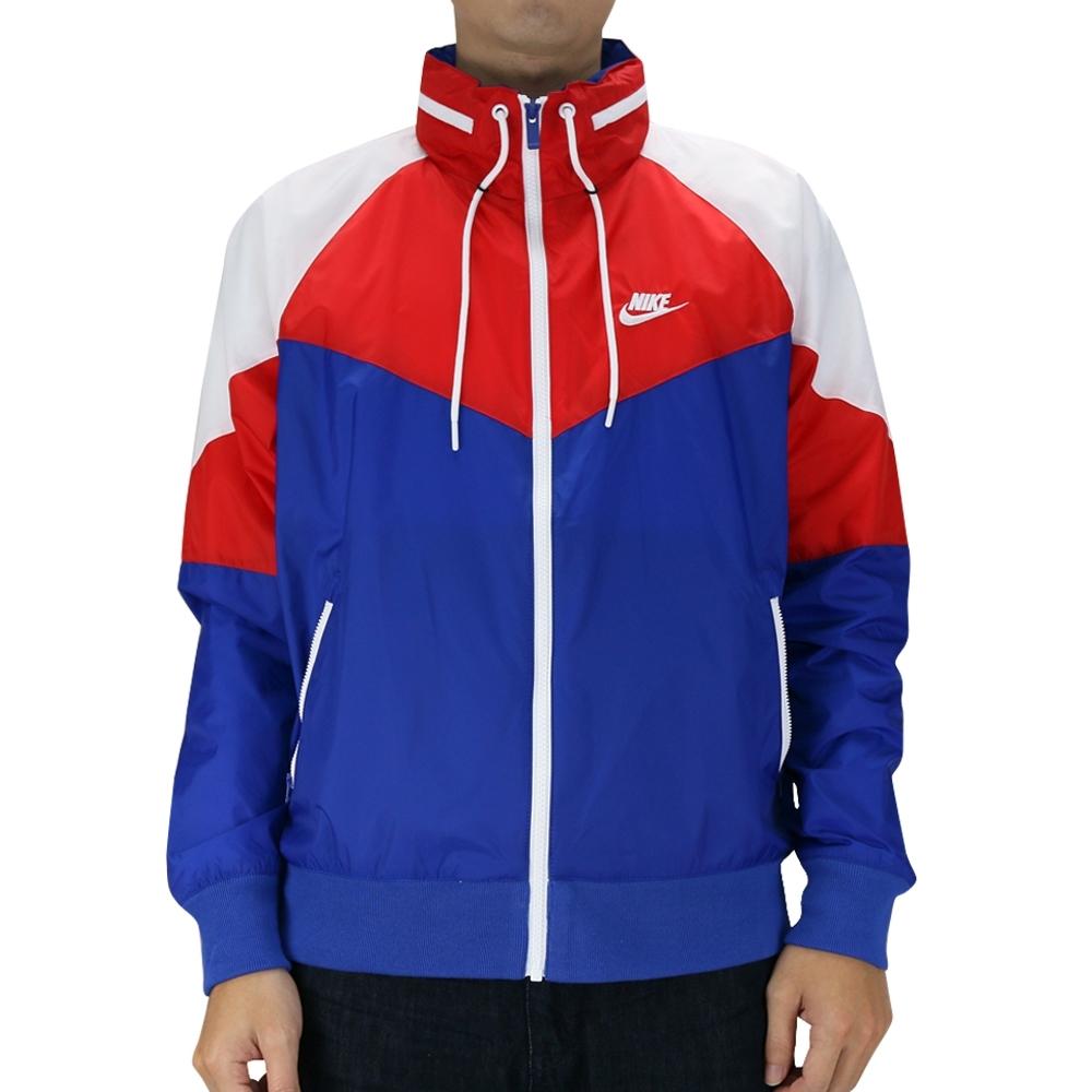 Nike AS M NSW HE WR JKT HD + 男連帽外套 紅藍