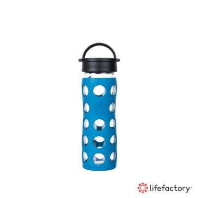 lifefactory 玻璃水瓶平口475ml-藍色(CLA-475-BLB)