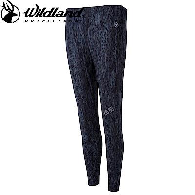 【Wildland 荒野】女彈性時尚保暖內搭褲鐵灰