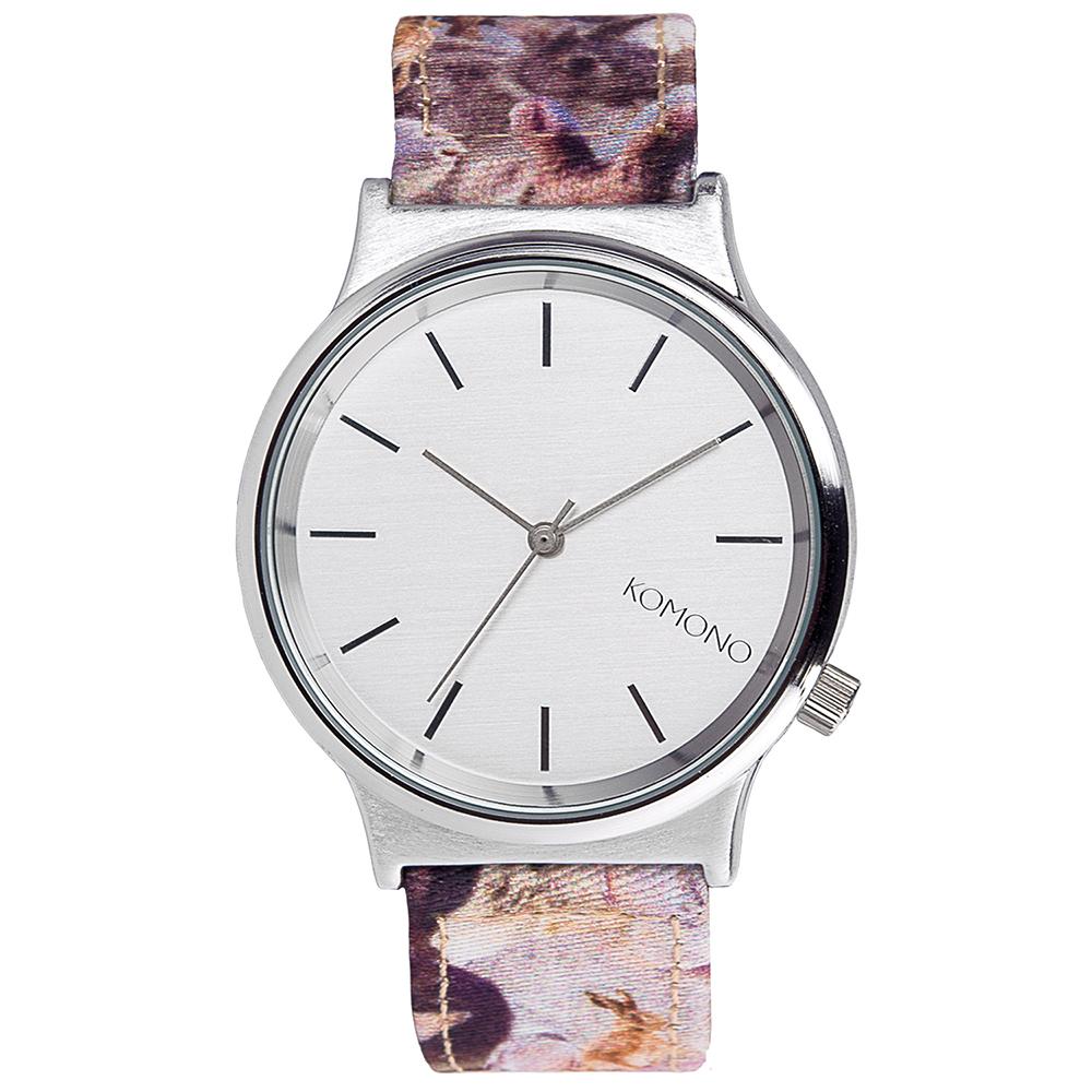 KOMONO Wizard Print 腕錶-青紫蘭兔/37mm