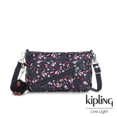 Kipling 絢麗百花斜拉鍊肩背包-MILOS