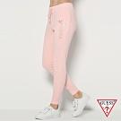 GUESS-女裝-水鑽抽繩運動休閒褲-粉紅