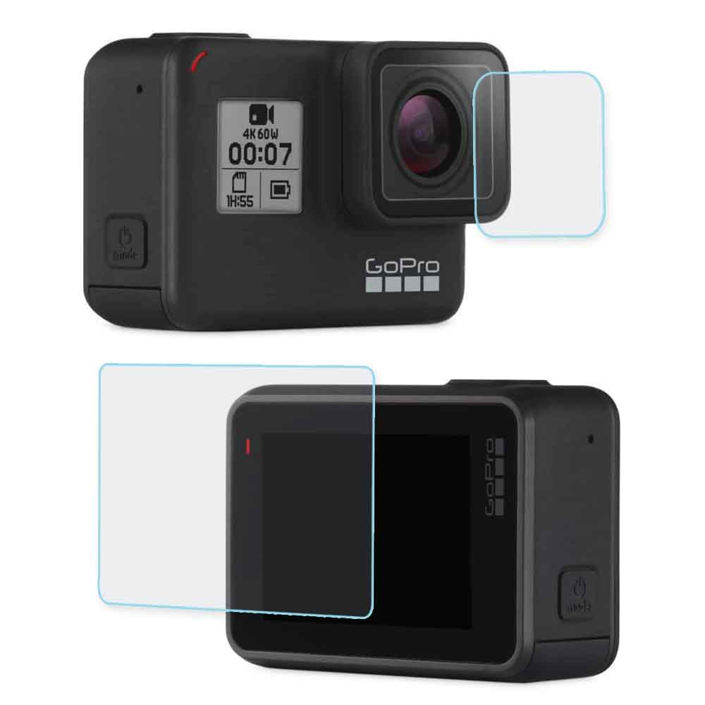 GoPro HERO7 相機鏡頭+觸控螢幕 鋼化玻璃膜 螢幕貼 @ Y!購物