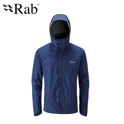 【RAB】Downpour Jacket 高透氣防水外套 男款 暮藍 #QWF61