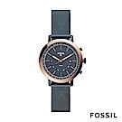 FOSSIL NEELY 氣質款智能錶-深藍/玫瑰金
