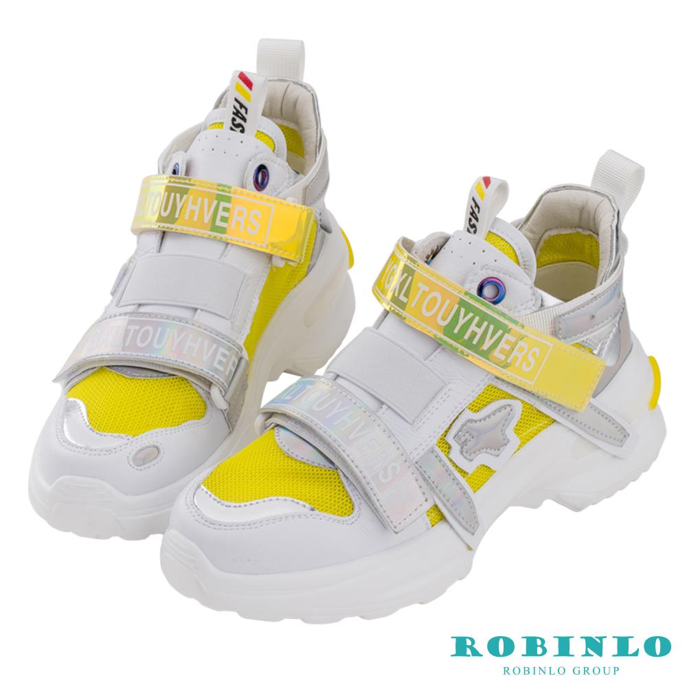 Robinlo 前衛科技感螢光老爹鞋 黃