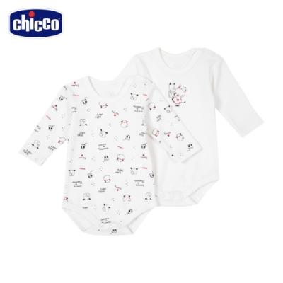 chicco- 小乳牛-印花長袖連身衣二入