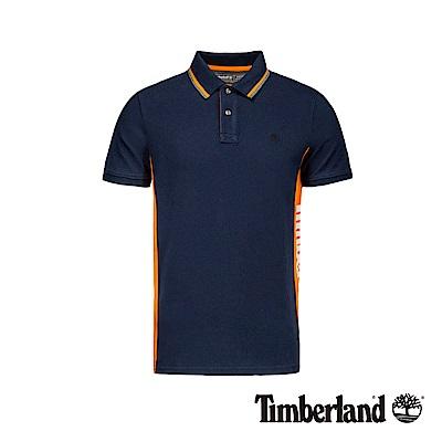 Timberland 男款深寶石藍側邊品牌標誌短袖POLO衫|A1YHX