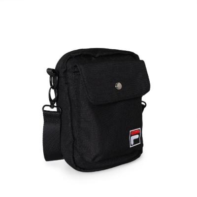 Fila 斜背包 Crossbody Shoulder Bag 斐樂 外出 小包 穿搭 背帶可調 輕便 黑 白 BMV3014BK