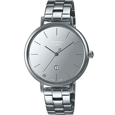 CASIO卡西歐 SHEEN 極簡時尚 鏡面錶盤時尚腕錶-SHE-4544D-7A