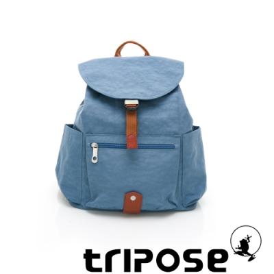 tripose MEMENTO系列微皺尼龍經典輕量後背包(小) 天空藍