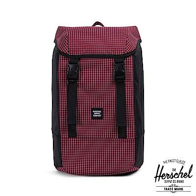 Herschel Iona 後背包-暗紅格紋
