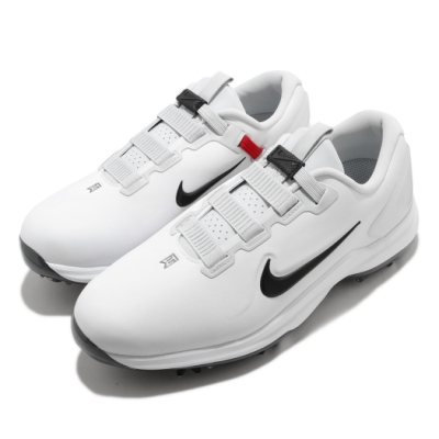 Nike 高爾夫球鞋 TW71 Fast Fit 寬楦 男鞋 避震 包覆 皮革 簡約 Golf 運動 白 黑 CD6302100