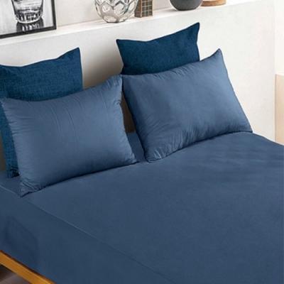 YCB護理級 100%防水防蟎抗菌床包式保潔墊 雙人加大-深海藍