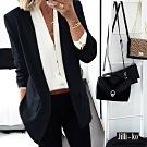 JILLI-KO OL時尚西裝外套- 黑色