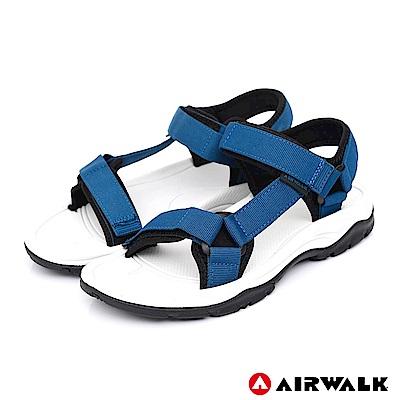 AIRWALK - Y字造型休閒涼鞋-男款-中藍
