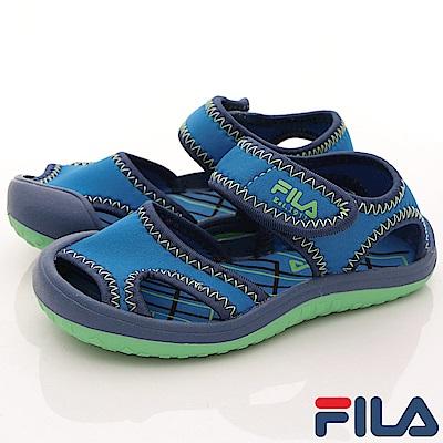 FILA頂級童鞋 輕量護趾款 FO58R-336藍(小童段)C