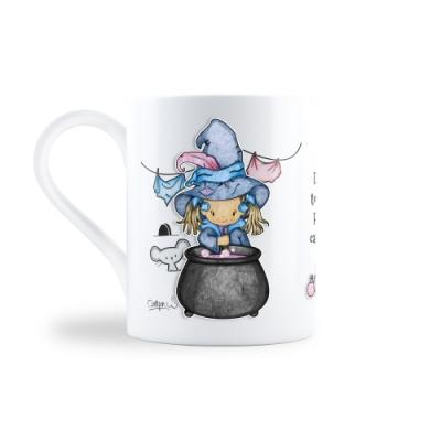 Lil Witch英國原創設計釉面陶瓷馬克杯-魔釜滾滾Cauldron Bubble
