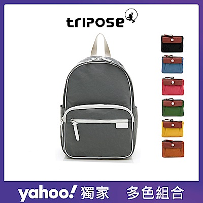 tripose 新春開運福袋 PIPE滾邊後背包+MIN鑰匙零錢包 (多色任選)