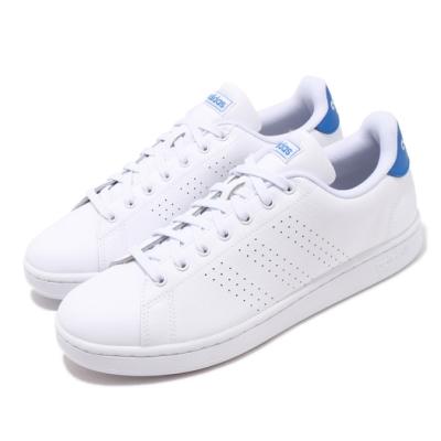 adidas 休閒鞋 Advantage 復古 低筒 男鞋 愛迪達 皮革鞋面 基本款 穿搭 白 藍 FX3456