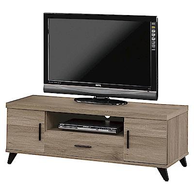 文創集 柏格時尚4尺美型電視櫃/視聽櫃-120x40x44.5cm免組