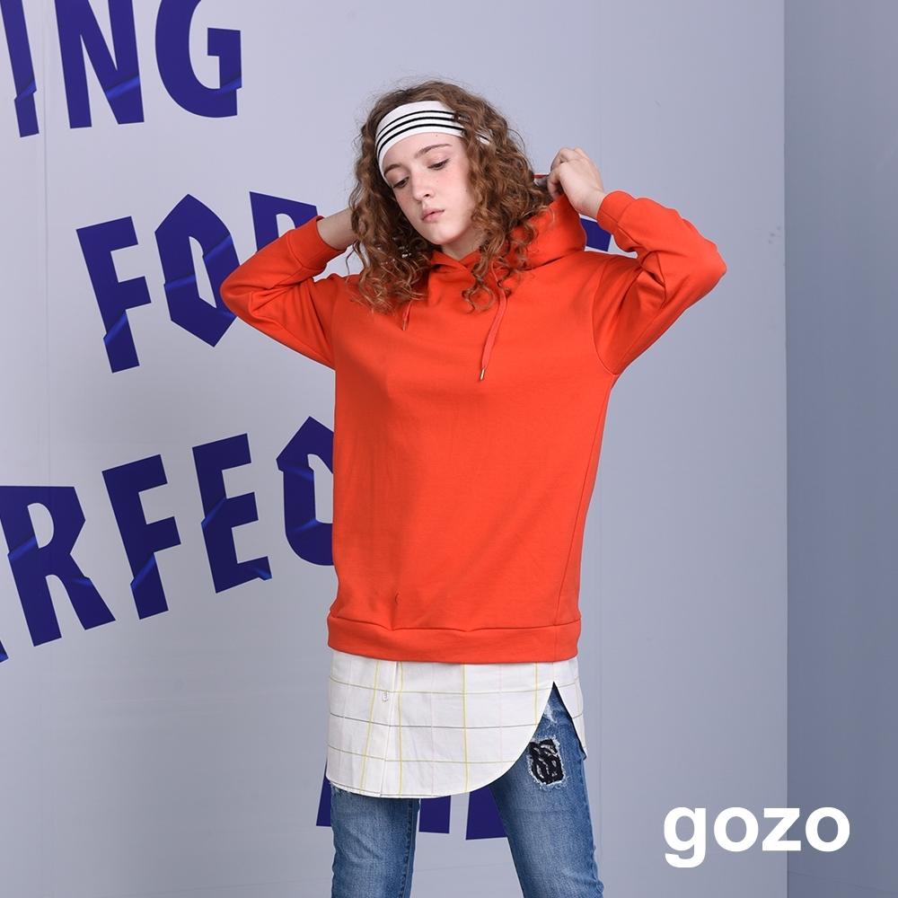 gozo-運動連帽造型拼接洋裝(三色)