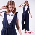 箱子 BLUE WAY -連身V領吊帶寬褲