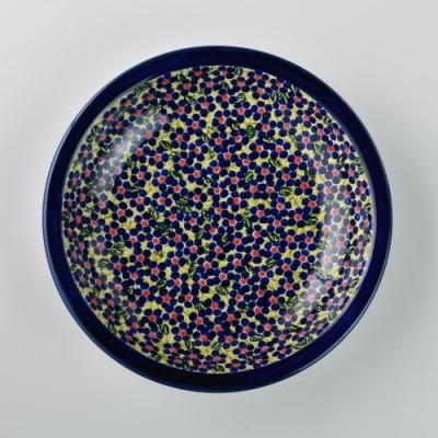 波蘭陶 山花爛漫系列 圓形深餐盤 22cm 波蘭手工製