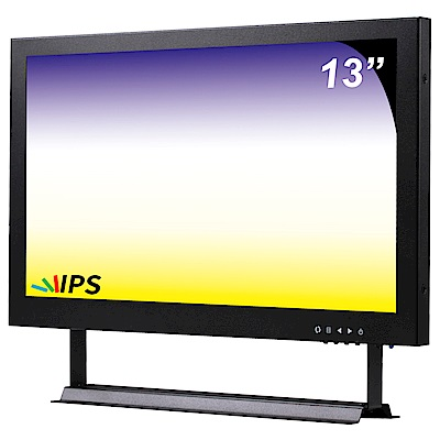 奇巧 13吋多功能IPS LED寬螢幕液晶顯示器(AV、BNC、VGA、HDMI、USB)
