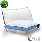 Hilton 希爾頓 五星級御用 3D透氣銀離子涼感舒柔枕2入