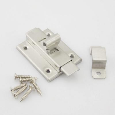 HE005 不銹鋼浴廁鎖 白鐵製 4寸 手動方型栓/門閂/平閂/橫栓/天地閂 (附螺絲)