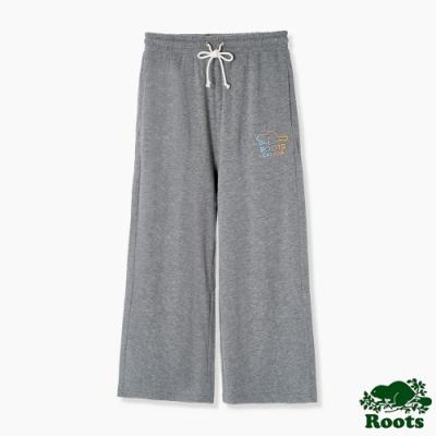 Roots 女裝- 彩色海狸系列 純棉寬褲-灰色