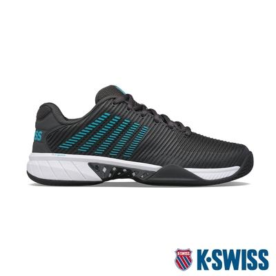 K-SWISS Hypercourt Express 2 透氣輕量網球鞋-男-灰/藍綠