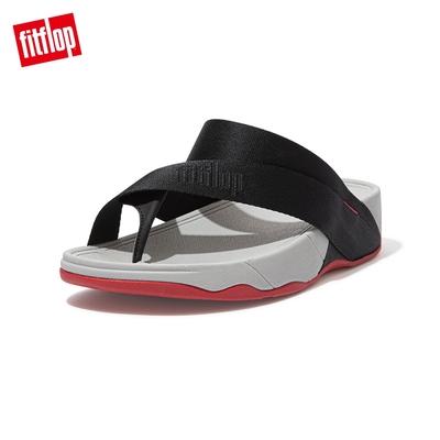 【FitFlop】SLING TOE-POST SANDALS 簡約夾腳涼鞋-男(黑色)