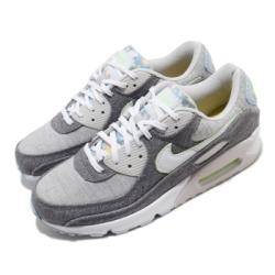 Nike 休閒鞋 Air Max 90 NRG 運動 男鞋 經典款 氣墊 舒適 簡約 布面 穿搭 灰 白 CK6467001