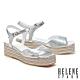 涼鞋 HELENE SPARK 簡約清新羊皮厚底涼鞋-銀 product thumbnail 1