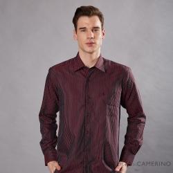 ROBERTA諾貝達 進口素材 台灣製 嚴選穿搭 品味條紋長袖襯衫 酒紅