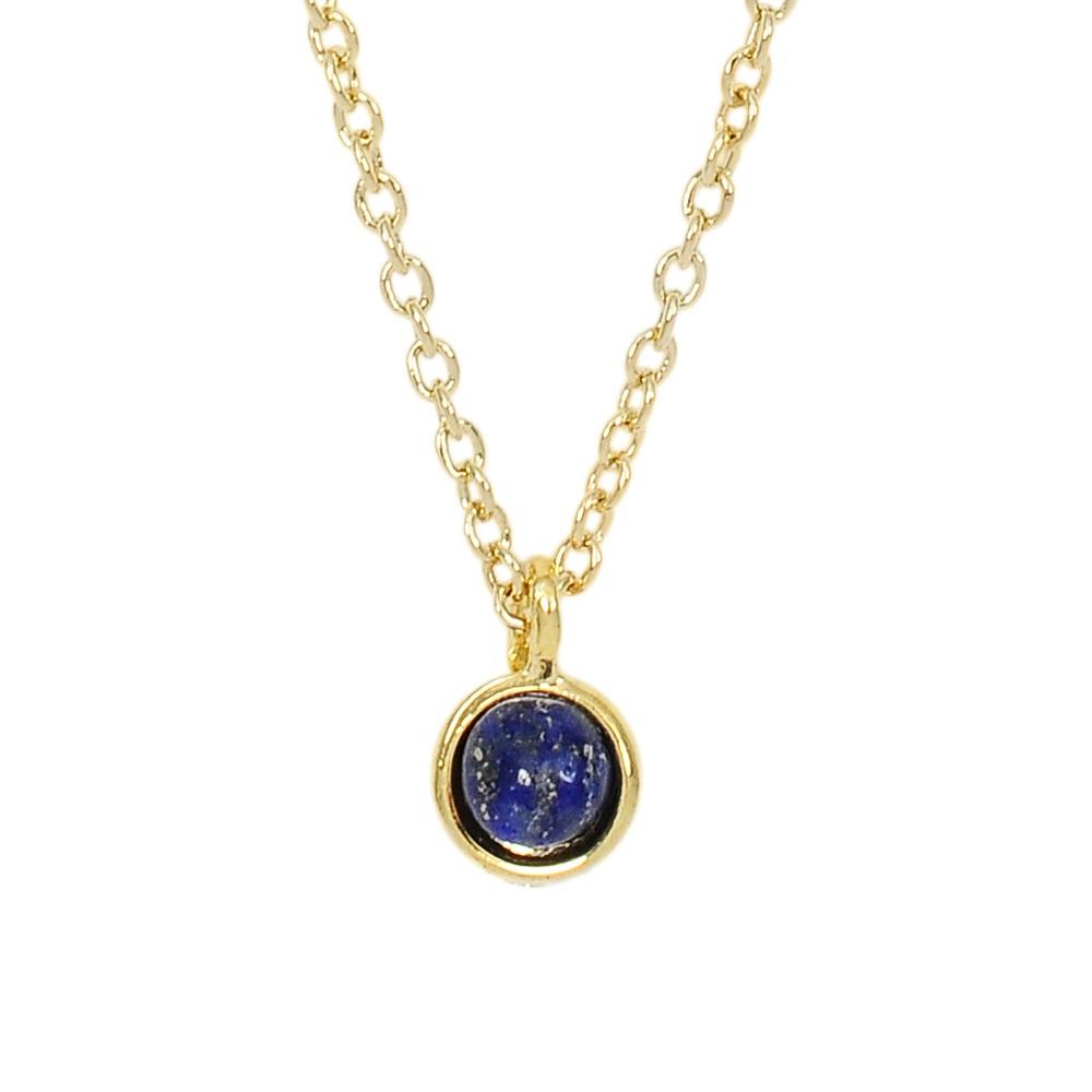 Prisme 美國時尚飾品 小巧深藍圓珠金色項鍊